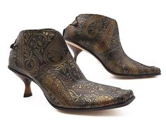 Ped Shoes - paisley booties