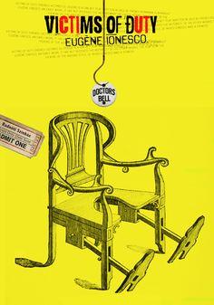 poster 70x100cm Eugene Ionesco, Hungary, Graphic Design, Memes, Movie Posters, Meme, Film Poster, Billboard, Visual Communication