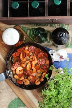 How to choose tapas to go with beer and a recipe for king prawn and chorizo   www.alifeofgeekery.co.uk