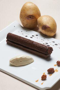 Cigare chocolat vanille et crème glacée de Blue Belle - Chef Laurent Bacquer ©B.Galéron/Germicopa