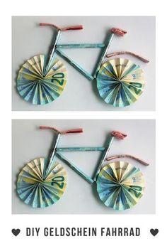 Geld zu verschenken ist doof! Wir haben ein #Fahrrad aus #Geldscheinen #gebastelt und in einem 3D #Rahmen gesteckt. Das sieht toll aus! #Geschenkidee #Gutschein #Geldgeschenk #Rahmen #Geldschein #Fahrradtour #Geburtstag #DIY #Selbstgemacht #Weihnachten #Muttertag #Valentinstag #Basteln #Verpacken #ideen
