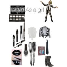 """""""BEETLEJUICE AS A GIRL"""" by im-a-part-of-the-bvb-army on Polyvore"""