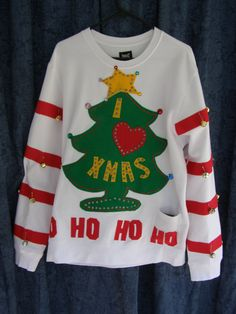 028258ca The GRINCH tacky ugly christmas sweater by Thecostumestop on Etsy Ugly Xmas  Sweater, Christmas Sweaters
