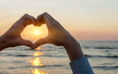 Heart Art - Heart shaped hands framing ocean sunset by Elena Elisseeva Hands Making A Heart, Heart Shaped Hands, Heart Shaped Frame, Heart Wall Art, Relationship Building, Ocean Sunset, Things To Know, Heart Shapes, Decir No