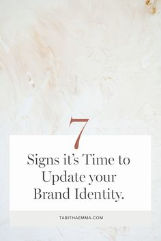 Have you been looking at your brand identity and wondering if it needs a little facelift? You know it's important to have consistent branding, but first you need to get the look right. So how do you know if you need to change your branding or if you should just stick with what you have and stay consistent? There are a few signs you can look out for that signal it may be time to make some big changes to your branding, and perhaps give it a complete refresh. Social Business, Branding Your Business, Small Business Marketing, Personal Branding, Creative Business, Business Tips, Online Entrepreneur, Business Entrepreneur, Brand Guide