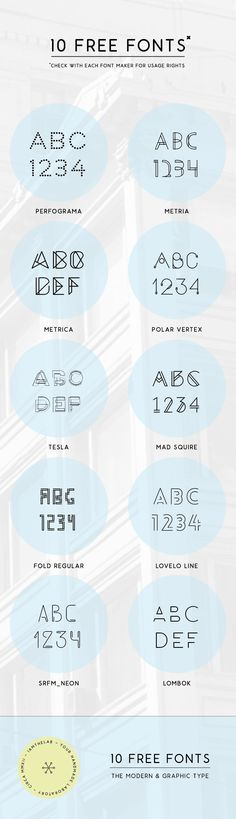 From IAMTHELAB.com Get Inspired: 10 Fresh & Modern Free Fonts