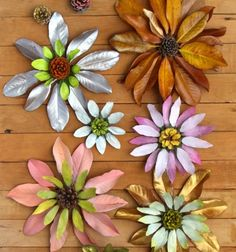 Gorgeous giant fall leaf and pinecone flowers // Gyönyörű őszi virágok falevélből és tobozból // Mindy - craft tutorial collection //