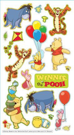 EK Success - Disney Collection - 3 Dimensional Puffy Stickers - Winnie the Pooh at Scrapbook.com $2.74