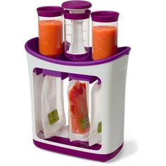 Squeeze Station - Fresh Squeezed Puts homemade baby food into squeezable to go pouches.will be great for homemade baby foods! Available at Toys 'R' Us Toddler Meals, Kids Meals, Toddler Food, Toddler Shoes, Baby Food Makers, Baby Food Storage, Baby Gadgets, Tech Gadgets, Homemade Baby Foods