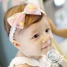 d50f3b4e8aba Aliexpress.com   Buy Lovely Baby Girls Headbands For Lace Yarn Kids Hair  Bows Multicolor Gum For Infant Hair Bands The Elastic Band from Reliable ...