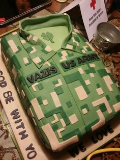 Amazing going away ARMY party cake