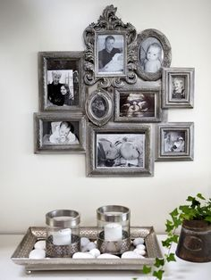Art Symphony: Rescued family villa in Gothenburg. Shabby Chic Picture Frames, Hanging Picture Frames, Molduras Shabby Chic, Sweden House, Interior Decorating, Interior Design, Beach House Decor, Plates On Wall, Home Decor Inspiration