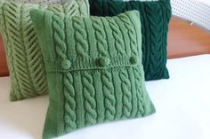 Custom Cable Knit Pillow Cover Throw Pillow Hand by Adorablewares Small Pillow Covers, Knitted Cushion Covers, Knitted Cushions, Small Pillows, Knitted Blankets, Decorative Pillows, Navy Blue Pillows, Green Pillows, White Pillows