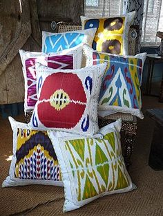 ikat! So pretty and interesting to look at