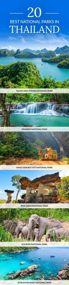 Click pin to discover the best national parks in Thailand. #Thailand