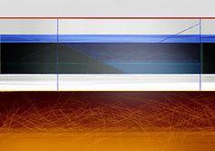 Geometric Painting - Blue Bridge To Life by Naxart Studio
