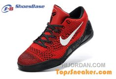 new concept 025b5 be711 To Buy Mens Nike Zoom Kobe IX 9 Low Elite ID Red Black White Sneaker Copuon  Code 7XKdzs
