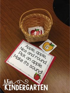 Great ideas for letter sounds/phonics practice! Miss Kindergarten: Phonics and Patterning Fun