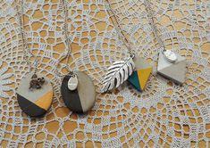 Cement necklaces