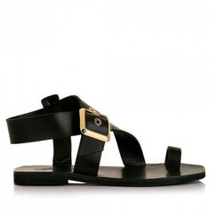 Sante σανδάλια δέρμα μαύροαπό γνήσιο δέρμα flat. Ένα κλασσικό ζευγάρι σανδάλια που κάνουν τη διαφορά στη λεπτομέρεια τους,καθώς... Shoes, Fashion, Moda, Zapatos, Shoes Outlet, La Mode, Fasion, Footwear, Shoe