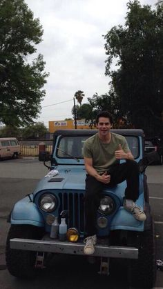 Dylan O'brien and that stupid jeep that I want for myself even though I'm not allowed to drive