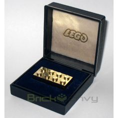 The World's Most Expensive LEGO Brick?  Weighing 25.65g of 14-karat gold, this incredibly rare brick was only given out, once or twice a year from 1979-1981, to selected business partners and LEGO employees who had 25 years of employment in a brick factory in Germany.   BrickEnvy—an online store that sells collector LEGO sets and pieces—is currently selling this golden piece at a whopping US$14,450