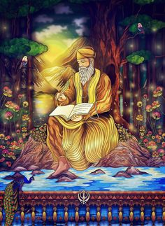 There is the feeling of immediately falling in love with this stunning and beautiful Guru Nanak Dev Ji inspired Sikh Art by London based artist Vik Kainth. Filled with elements of rich colors and various shades, this art captures Guru Nanak Dev Ji. Sobha Singh, Guru Nanak Photo, Guru Nanak Wallpaper, Nanak Dev Ji, Guru Pics, Guru Gobind Singh, Lord Shiva Hd Wallpaper, Chicano Art, Free Canvas