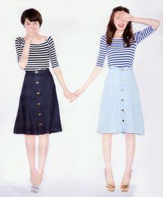 鈴木ちなみ (Chinami Suzuki)・宮田聡子 (Satoko Miyata): with magazine / AULA AILA