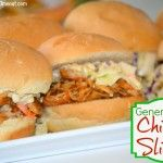 General Tso's Chicken Sliders With Crunchy Slaw ... sounds good if you skip the slaw