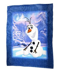 Look at this Frozen Olaf Blanket on #zulily today!