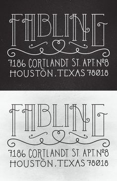 Personal address stamp by Jay Higginbotham, via Behance... we totally need this one mr. brown!!!!