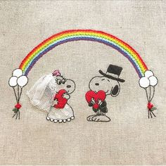 happy wedding * * #snoopy #peanuts #wedding #handembroidery #embroidery #スヌーピー #ピーナッツ #刺繍 #