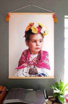Inspirational Office Makeover & Poster Hanger DIY | My Poppet Makes