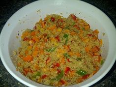Triple Pepper Quinoa with Hot Honey Lime Dressing- Healthy and Easy!  #hothoneyquinoa #triplepepperdish #sogoodforyou