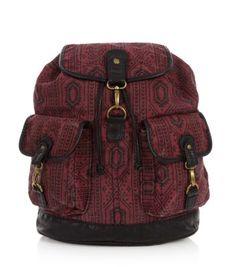 b2425ee72d28 Burgundy Aztec Print Backpack Xmas Presents