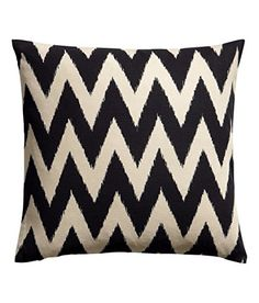 "Chevron Striped Ikat Accent Decorative 100% Cotton Canvas Throw Pillow Cover Cushion 20 X 20"" Black Greige Natural Cushion Cover http://www.amazon.com/dp/B00U90VJ6A/ref=cm_sw_r_pi_dp_xhgfvb0APHJPV"