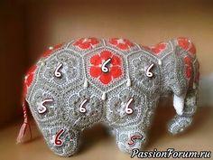 Мотивы для слона - запись пользователя Екатерина в сообществе Мир игрушки в категории Вязаные игрушки. Мастер-классы, схемы, описание.