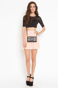 now why can't i wear something like this (crop top and flouncey skirt) and not feel like an idiot in it? maybe it's because i'm not 12 feet tall. idk. IDK.