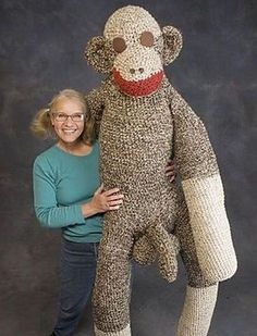 mom and her sock monkey