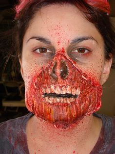 Now THAT's how you blend into an apocalypse.  #Zombie #Makeup