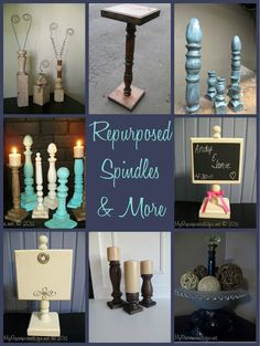 My Repurposed Life shows you how to use up spare chair parts and spindles