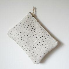 handmade dots pouch wallet