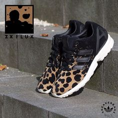 #adidas #zxflux #leopard #adidasleopard  Adidas Zx Flux 'Leopard' - The Adidas ZX Flux is a Low-profile and great looking sneaker with a comfortable upper and technical Adidas Torsion sole. This ZX Flux is made with a black upper and a extravagant leopard print.  Now online available   Priced at 99.99 EU   Wmns Sizes 36 – 42.5 EU