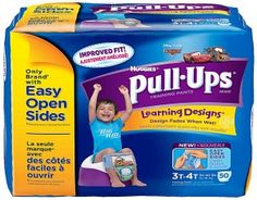 Huggies Pull Ups Learning Designs 3T-4T  Huggies Pull Ups Learning Designs training pants help potty train your baby easier and in a fun manner. #babygifts #babyshower #babygear #babyseats #diapers #nursery #strollers