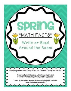 Spring Math Facts for K & 1