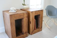 rustic reclaimed modern end tables