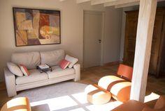 Rénovation décoration salon maison de campagne, poutre, tomette ...