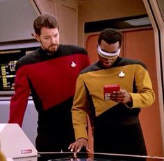 Riker and Geordi.