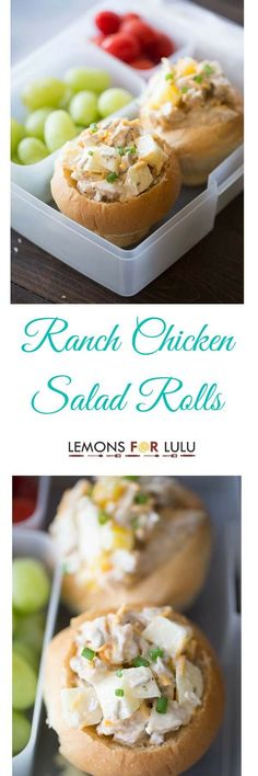 This ranch chicken salad recipe has flavors everyone will love! Each bite is filled with crisp pepprs, crunchy nuts, sweet apples and cheddar cheese! lemonsforlulu.com