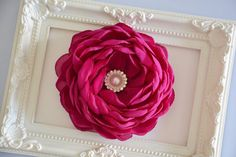 Pink, Magenta, Bridal, Hair Flower, Hair Clip, Wedding Accessory, Fascinator, Hair Piece, Bridesmaid on Etsy, $23.00